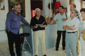 Vernissage en présence de l'écrivain et critique d'art Claude Garcia Forner