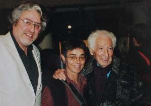En compagnie d'André Verdet, ami de Picasso