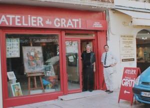 Installation à Vallauris en face de l'atelier de Picasso