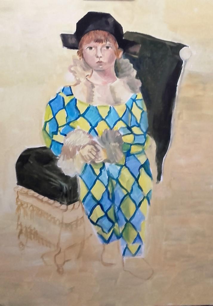 L'arlequin d'après Picasso